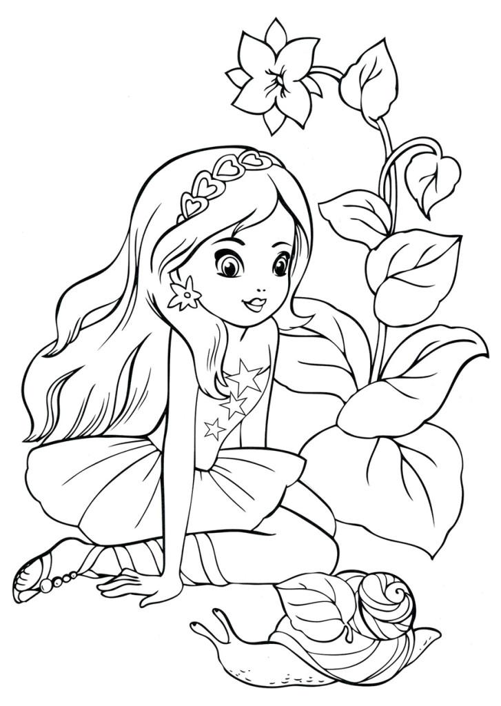 Раскраски для девочек распечатать новые красивые