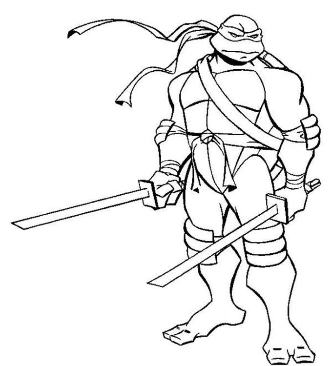 Раскраска черепашки ниндзя для мальчиков